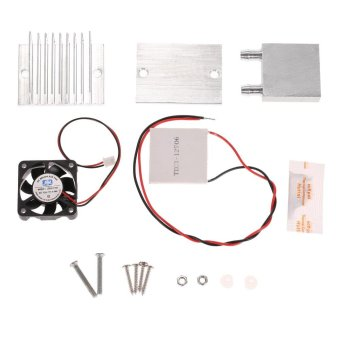 DIY Kit Thermoelectric Peltier Cooler Refrigeration Cooling SystemHeat Sink Conduction Module + Fan + TEC1-