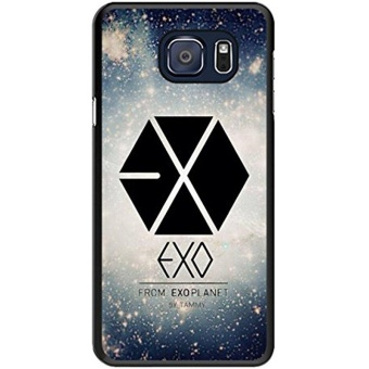 Diy S6 Edge+ Phone Case,Exo Logo Popular Gifts Case Cover for Samsung Galaxy S6 Edge Plus (Black) - intl