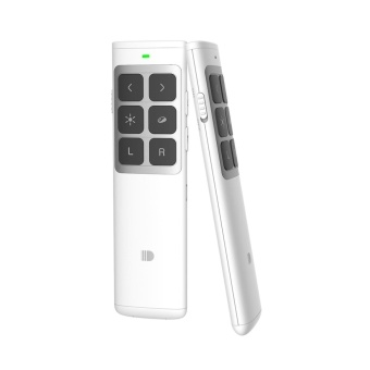 DOOSL DSIT014 Presenter 2.4GHz Remote Control Laser Wireless Rechargeable Supports PowerPoint, Keynote and Prezi Page - White - intl