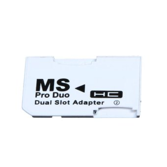 Dual Slot Micro For SD SDHC TF to Memory Stick MS Card Pro Duo Reader Adapter - intl