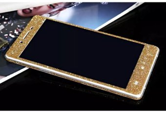 """Dull Polish Rhinestone Diamond Shining Bling Full Body Skin Sticke Front Back Glitter Cover Film for OPPO R7S 5.5\"""""""