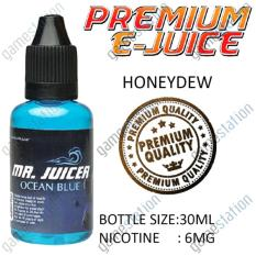 E-Juice Premium E-Liquids MrJuicer Ocean Blue (Honeydew Mix Flavor) for Electronic Cigarettes 30ml