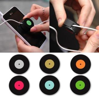Eachgo Creative Anti-tangle Earphone Wire Bobbin Winder Retro FilmRoll Shape USB Cable Twister Headphone