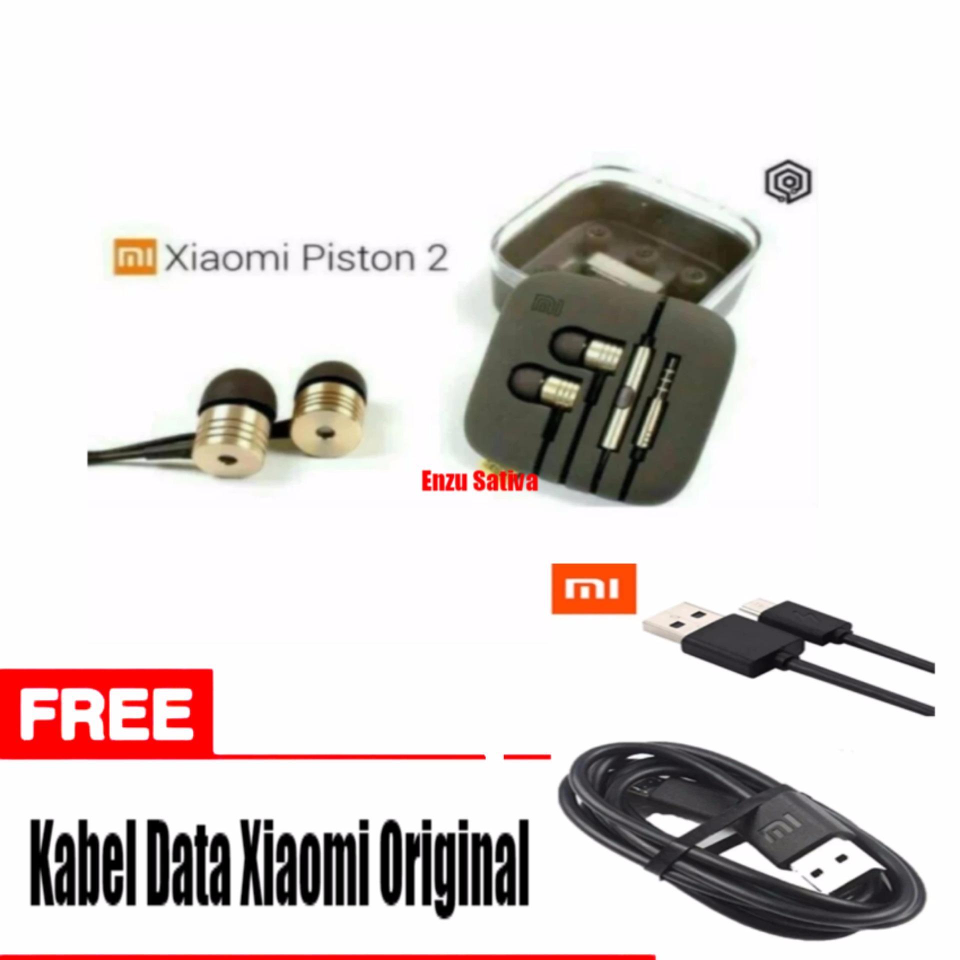 ... Earphone Xiaomi Big Bass Piston Mi 2nd Original - Gold - Free Kabel Data Micro Usb ...