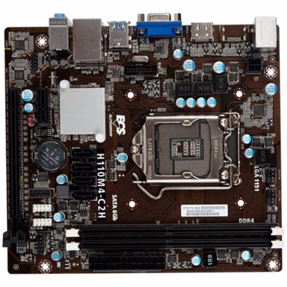 Diskon Penjualan Ecs Motherboard H110m4 C2h Lga1151 Ddr4 Venomrx Intel H61 Ddr3 Lga 1155