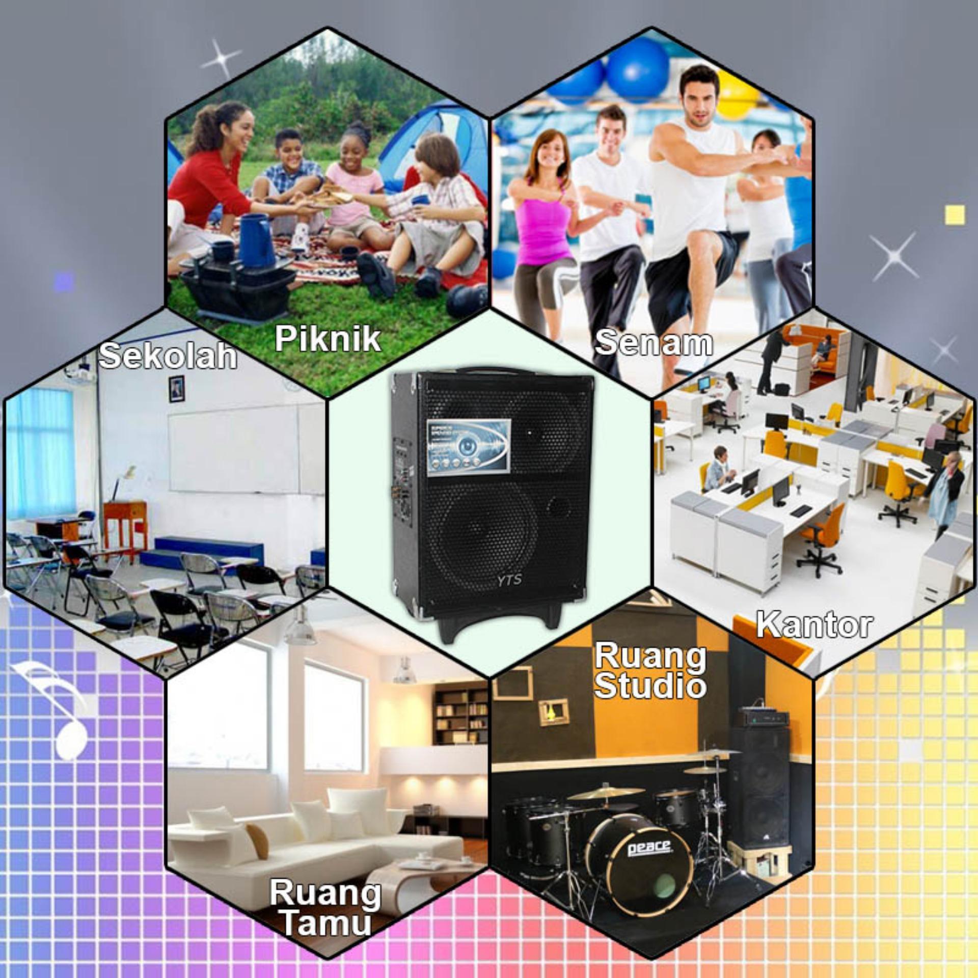 EELIC SPR 168 Sound Sistem Speaker Super Bass Speaker Aktif