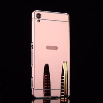 Pelacakan Harga Elaike For Sony Xperia XA Ultra 2 in 1 Luxury Aluminum Metal MirrorPC Phone Cover Case (Rose Gold) - intl Price Checker