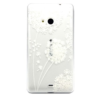 Embossment Thin TPU Skin Case for Microsoft Lumia 535 / 535 Dual Sim (Multicolor)