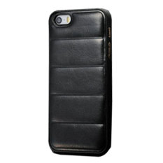 Emco For Apple Iphone 4/4S Leather Imported Cool Hard Bumper Design Compact Case - Hitam