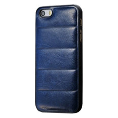 Emco For Apple Iphone 4/4S Leather Imported Cool Hard Bumper Design Compact Case - Navy