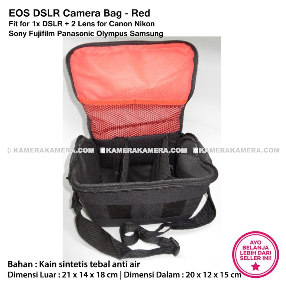 ... EOS DSLR Camera Bag Red Stripe Fit for 1x DSLR 2 Lens for Canon Nikon