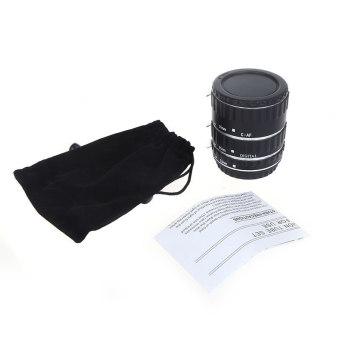 EOS EF-S 60D 7D 5D II 550D logam warna-warna-warni TTL AF makro fokus otomatis tabung ekstensi cincin untuk Canon Perak - 5