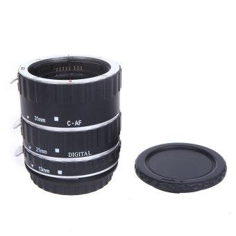 EOS EF-S 60D 7D 5D II 550D logam warna-warna-warni TTL AF makro fokus otomatis tabung ekstensi cincin untuk Canon Perak - 2