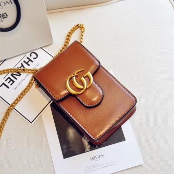 Eropa dan Amerika tas bahu baru Messenger Bag rantai kecil paket handphone tas