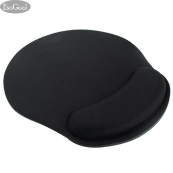 Harga EsoGoal Mouse Wrist Rest Mice Pad Ergonomic Support for Computer PC Laptop (Black) - intl