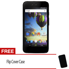 Evercoss One X A65 - 8GB - Android One - Hitam + Gratis Flip Cover