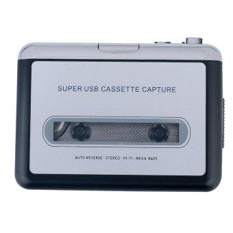 Jual ezcap218 Portable USB Casette Player Old Tape to MP3Converter(Black) - intl Online