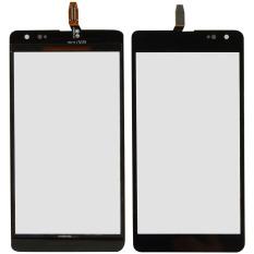 Fancytoy Hitam layar sentuh kaca CT2S versi untuk Microsoft Nokia Lumia 535