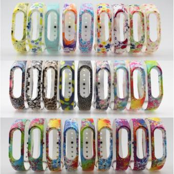Fengsheng 5pc Colourful Silicone Wrist Strap Wrist Blet ReplaceStrap Replacement Wristband Bracelet Accessories For Xiaomi Mi Band2 Smart Miband - intl