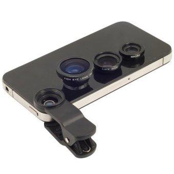 Fish Eye Lensa 3in1 Untuk Xiaomi Redmi Note 3 - Hitam