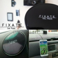 Fixate Gel Pad Sticky Round Circle for Mobile Phone (Black)