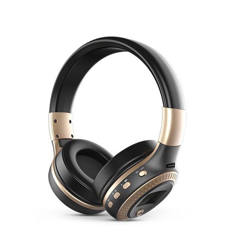 Foldable Headphone Wireless Stereo Bluetooth Headset for CellphoneLaptop +Mic - intl