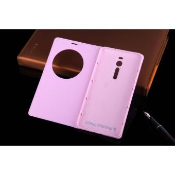For Asus ZenFone 2 ZE550ML Smart View Auto Sleep Case Leather PhoneCases Flip Cover For Asus ZenFone 2 Deluxe ZE551ML 5.5 Inch made inchina - intl