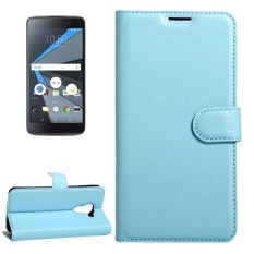 For BlackBerry DTEK60 Litchi Texture Horizontal Flip Leather Case With Magnetic Buckle and Holder and Card Slots and Wallet(Blue) - intl