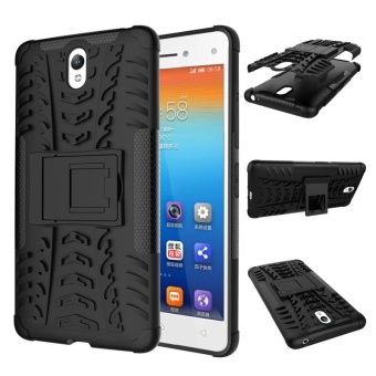For Lenovo S1 Case, 3 in 1 Tyre Grain Shockproof Phone Housing WithFoldable Stand Holder TPU + PC Back Cover Case for Lenovo Vibe S1 -intl