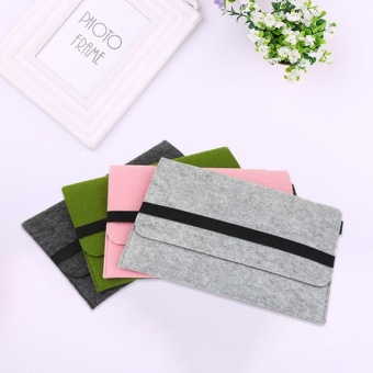 For MacBook Air 13'' Inch Laptop Wool Felt Soft Sleeve Case Cover Bag Protector - intl