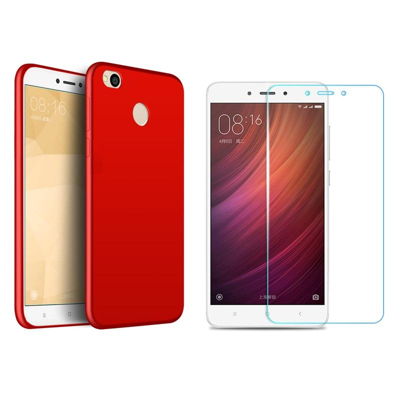 For Redmi 4X Soft Silicone Fingerprint-proof Phone Case with HD Anti .