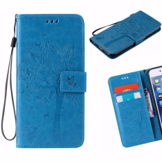 """For Samsung Galaxy J7 Prime / On7 2016 (5.5 """") Case Cover ClassicFashion style Wallet Flip Stand PU Leather Mobile Phone Case (KT701/ Blue) - intl"""