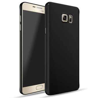 For Samsung Galaxy Note 5 Full Body Hard PC Smooth Grip Back Case Cover (Black) - intl