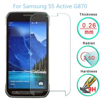 For Samsung Galaxy S5 Active Premium 9H 0.3mm 2.5d Ultra Thin Tempered Glass Screen Protector - intl