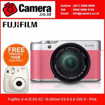 Fujifilm X-A10 Kit XC 16-50mm f/3.5-5.6 OIS II - Pink +EXTRA FREE