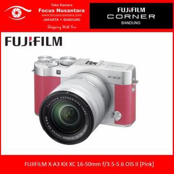 FUJIFILM X-A3 Kit XC 16-50mm f/3.5-5.6 OIS II [Pink] + Instax Mini 8 + Free SDHC 16GB