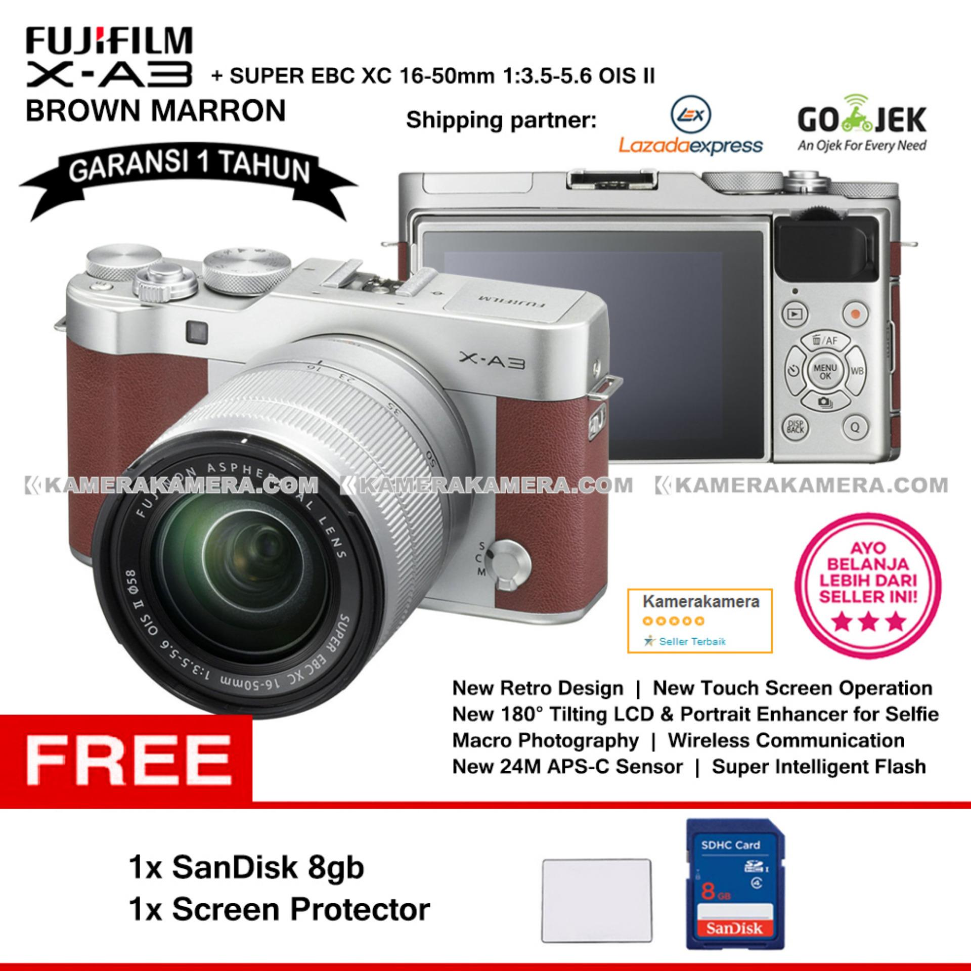 Harga Jual Fujifilm X A5 Kit 15 45mm Kamera Mirrorless Silver A3 Xc16 50mm F35 56 Ois Ii Pink Mini8 Pwp Xf35mm F2 Macro Photography Xc 16 Wifi 24mp Touchscreen Lcd Camera Garansi