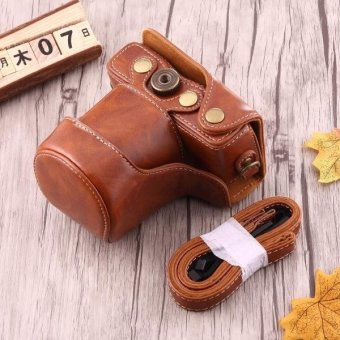 Full Body Camera PU Leather Case Bag With Strap For Canon EOS M10 (Brown) - intl