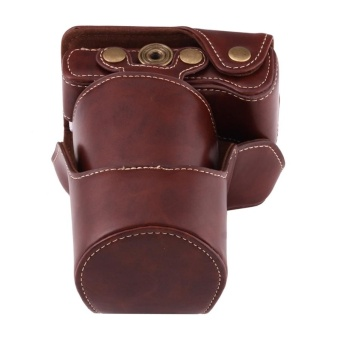 ... Full Body Camera PU Leather Case Bag With Strap For Canon EOS M3(Coffee) ...