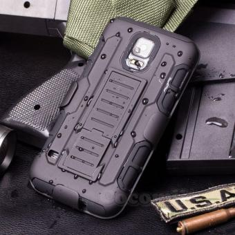 Full Body Shockproof Heavy Duty Rugged Case With Locking BeltSwivel Clip & Kickstand For Samsung Galaxy S5 i9600