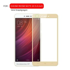 Full Cover Tempered Glass Warna Screen Protector for Xiaomi Redmi Note 4X / Note 4 Versi Snapdragon 5.5 inch - Gold