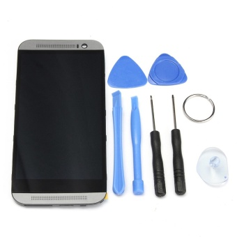 Full LCD Display Touch Screen Digitizer Assembly + Frame for HTC One M8 - intl