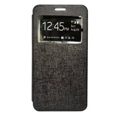 Galeno Leather Flip Cover for Vivo Y21 / Y22 - Hitam