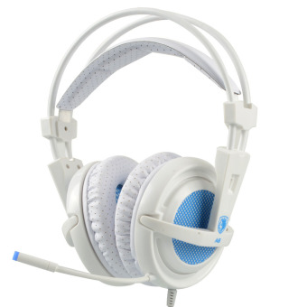 Game headphone SADES A6 profesional headset 7.1 surround USB mikrofon getaran -
