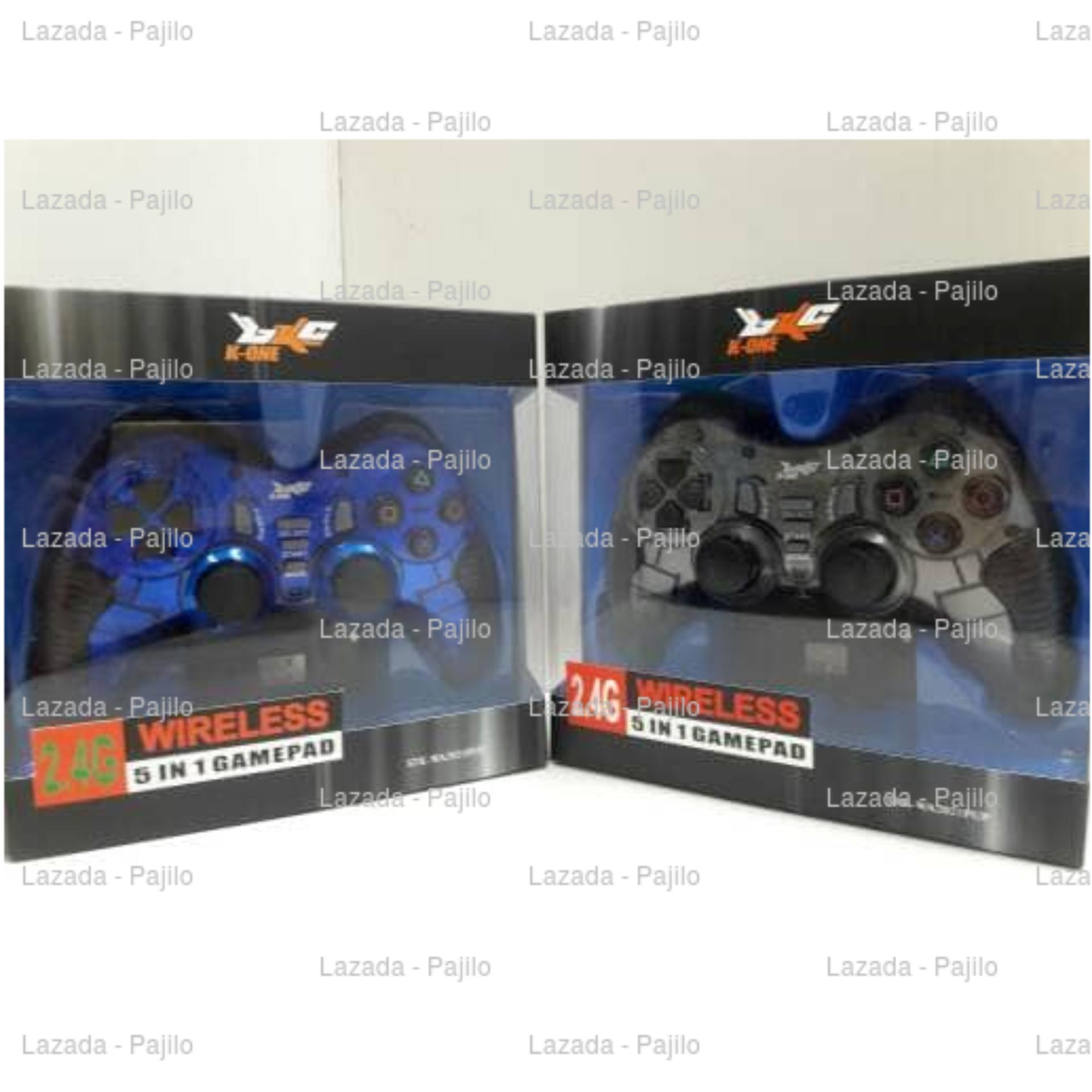 K One Gamepad Stik Wireless 24g Support Ps2 Ps3 Pc Android Tv Biru M Tech Game Pad Stick Single Turbo 5 In 1 Playstation 2