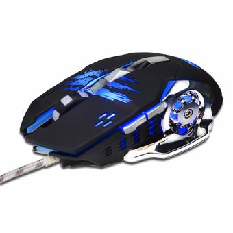 Harga Gaming Mouse Mause DPI Adjustable Computer Optical LED Game MiceWired USB Games Cable Mouse LOL for Professional Gamer - intl