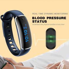 Gelang pintar kesehatan dinamis denyut jantung Monitor tekanan darah (biru)- International