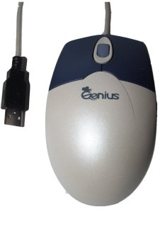 Genius Mouse Webscroll with Email Notice dengan USB Krem & Biru