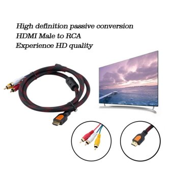 GOOD 5ft HDMI Male to RCA Video Audio AV Cable Adapter for PS3 PS4Xbox One Wii - intl - 4