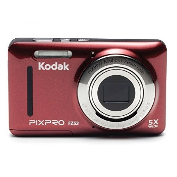"""GPL/ Kodak PIXPRO Friendly Zoom FZ53 16 MP Digital Camera with 5X Optical Zoom and 2.7"""" LCD Screen (Red)/ship from USA - intl"""
